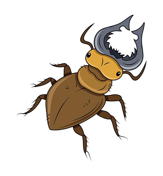 550x591 Download Free Horned Beetle Clip Art Vector Illustration