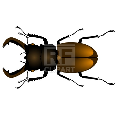400x400 Dumpy Stag Beetle Royalty Free Vector Clip Art Image