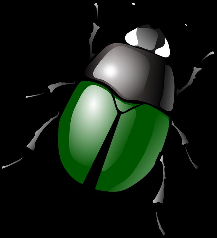 731x800 Free Clipart Stylized Green Beetle Jbruce