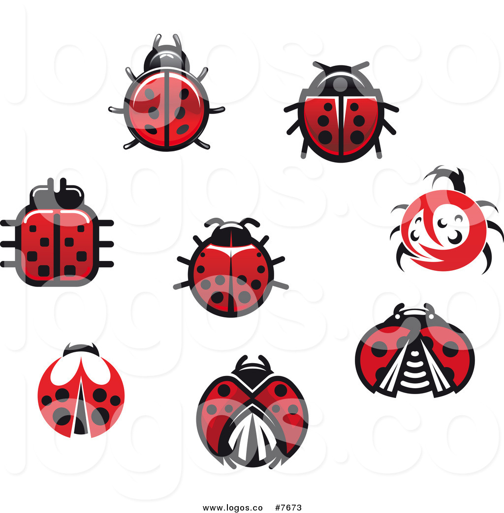 1024x1044 Royalty Free Clip Art Vector Logos Of Spotted Ladybug Beetles By