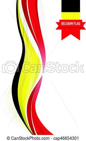 288x470 Belgium Flag Background Vector Clipart