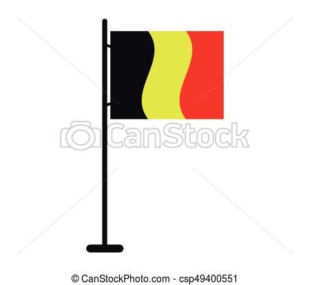 450x413 Belgium Flag Clipart Vector