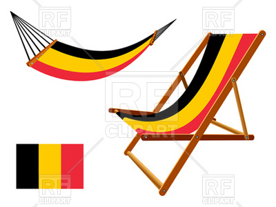 400x300 Belgium Flag Hammock And Chaise Longue Royalty Free Vector Clip