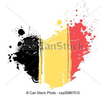 450x406 Belgium Flag In Heart Shape. Belgium Flag In Grunge Heart