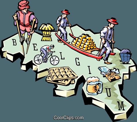 480x428 Belgium Map Royalty Free Vector Clip Art Illustration Worl0637