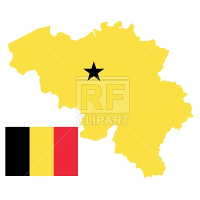 400x400 Belgium Map And Flag Royalty Free Vector Clip Art Image