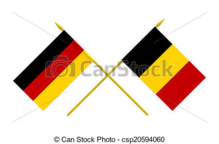 450x296 Flags, Belgium And Germany. Flags Of Belgium And Germany, 3d