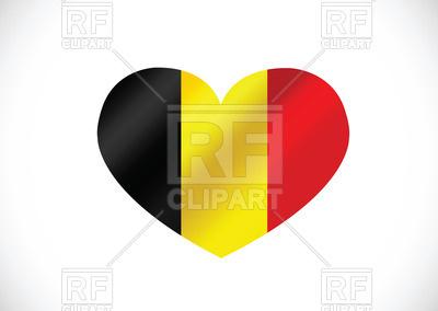 400x284 Heart Shaped Flag Of Belgium Royalty Free Vector Clip Art Image