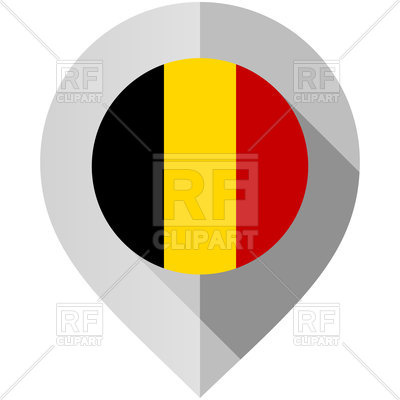 400x400 Icon Of Pin With Belgium Flag On White Background Royalty Free