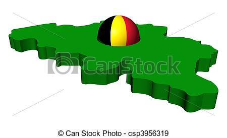 450x274 Belgian Flag Sphere With Belgium Map Illustration Stock