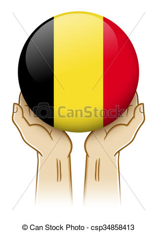 318x470 Pray For Belgium Illustration. Pair Of Hand Holding And Clipart