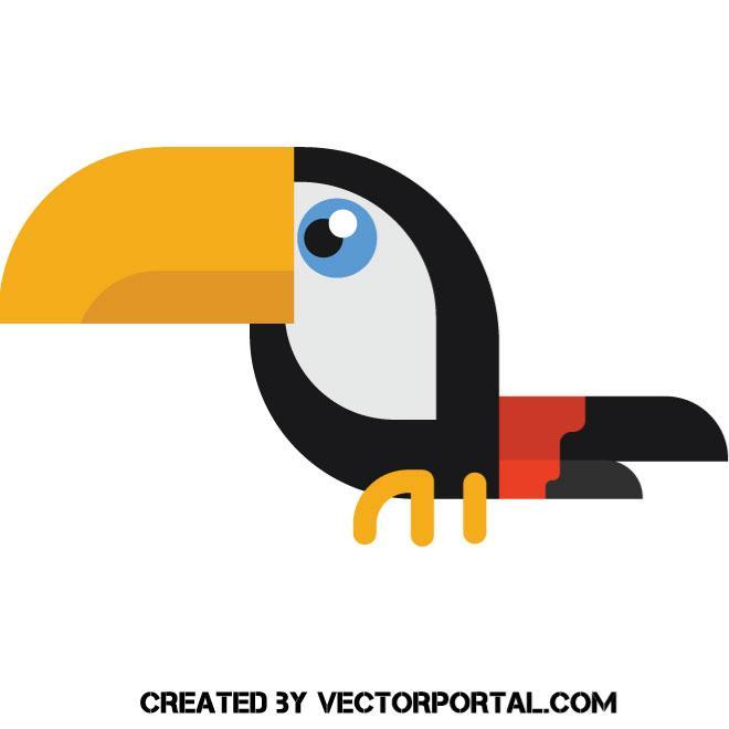 660x660 Toucan Vector Clip Art