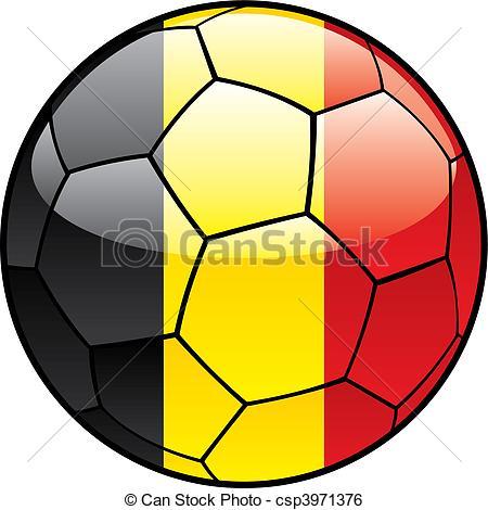 450x470 Vector Illustration Of Belgium Flag On Soccer Ball Clip Art Vector