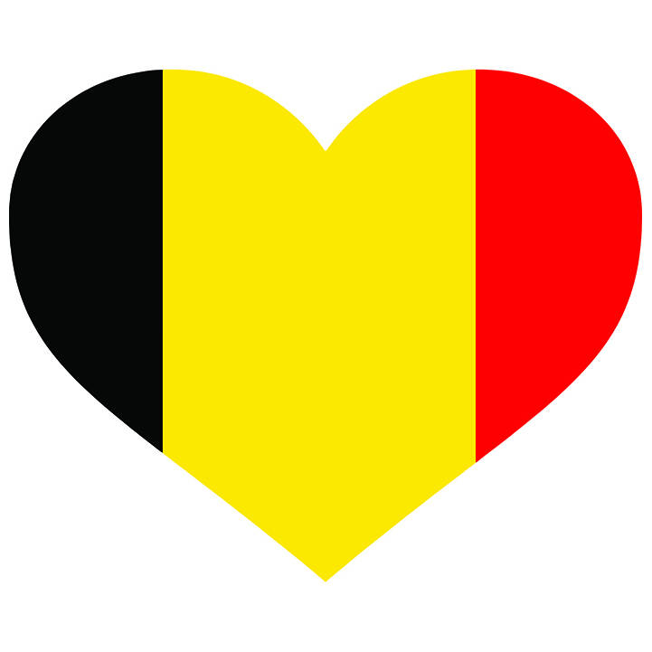 721x721 Belgium Heart Shaped Flag Belgian Europe Country World National