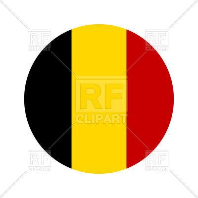 400x400 Belgium Circle Flag Royalty Free Vector Clip Art Image