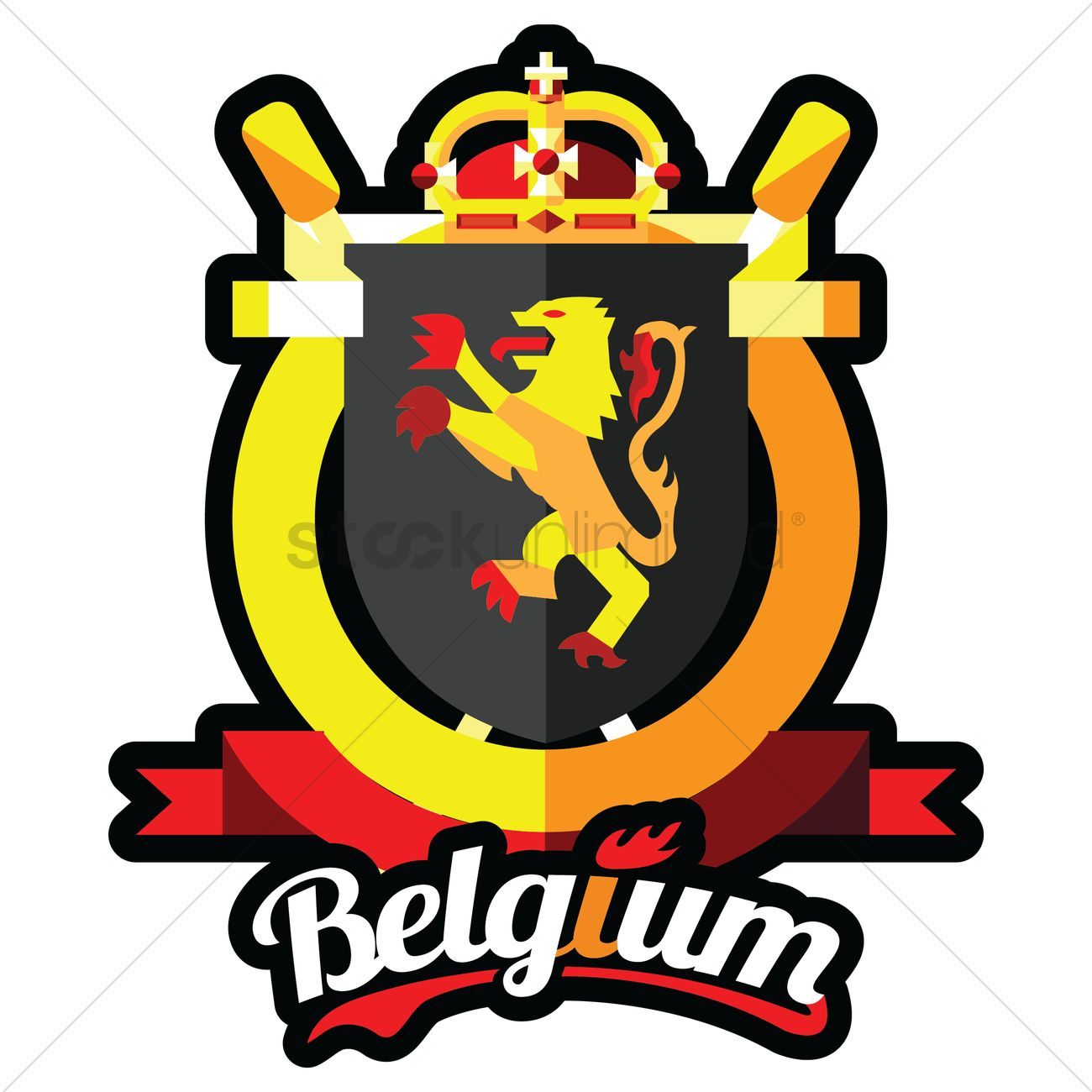 1300x1300 Belgium Coat Of Arms Vector Image