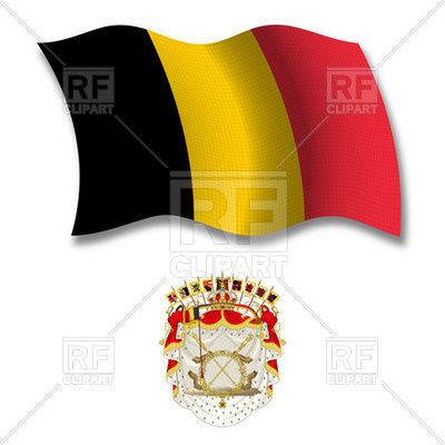400x400 Belgium Flag And Coat Of Arms Royalty Free Vector Clip Art Image