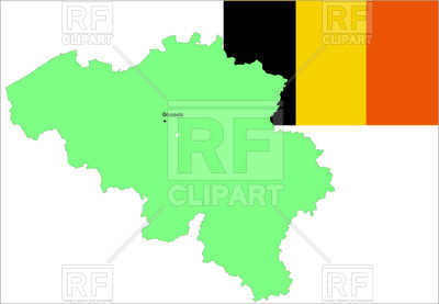 400x277 Belgium Flag And Map Outline Royalty Free Vector Clip Art Image