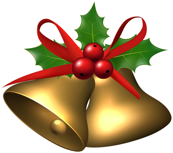 600x533 Large Christmas Bells With Holly Png Clip Art Image Christmas
