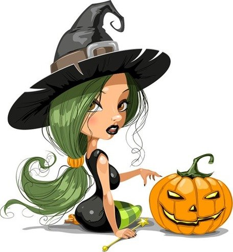 456x494 Free Bella Strega Con Halloween Clipart And Vector Graphics