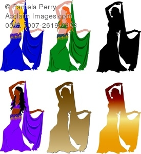 275x300 Clip Art Illustration Of A Collection Of Belly Dancers