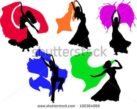 450x360 Female Belly Dancer Illustration Silhouette Stock Photos, Female