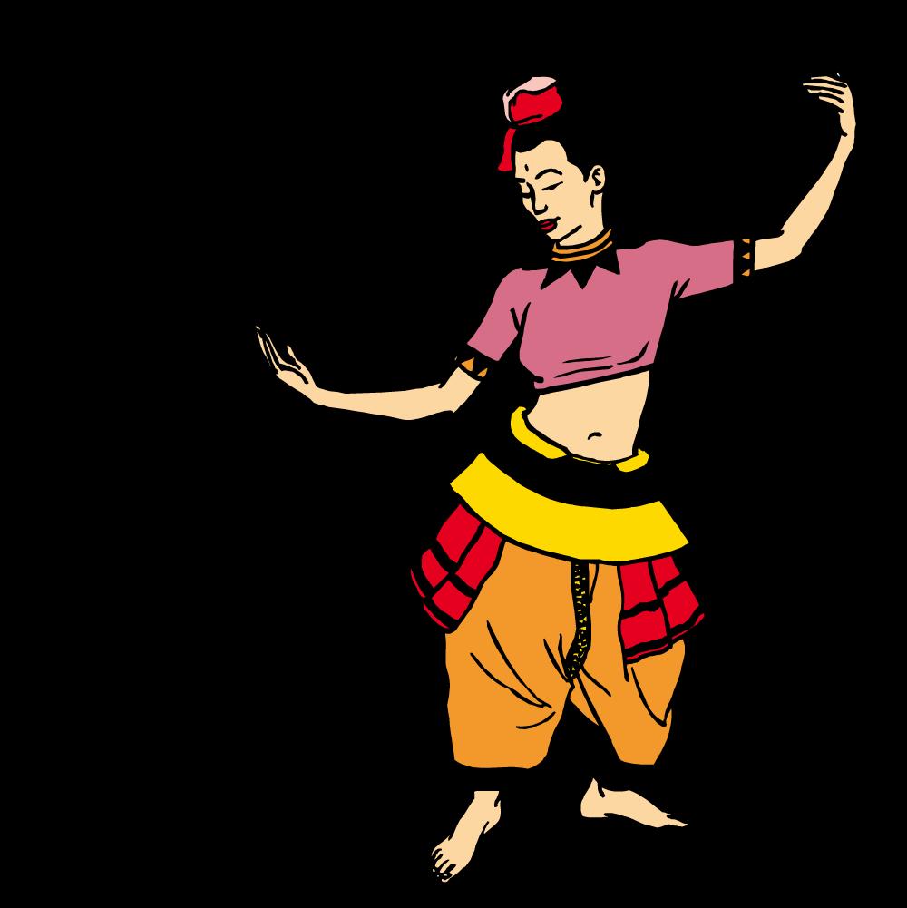1000x1001 Belly Dance Clip Art