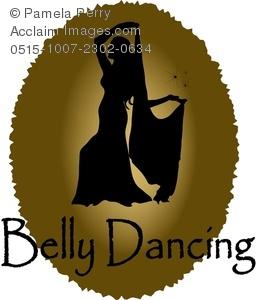 256x300 Clip Art Illustration Of A Belly Dancer Logo