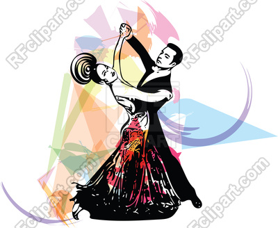 400x328 Abstract Latino Dancing Couple Royalty Free Vector Clip Art Image