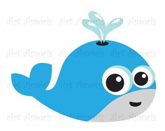 340x270 Blue Whale Clip Art Etsy