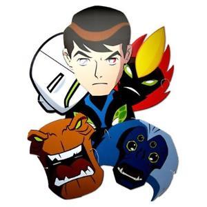 300x300 Ben 10 Alien Force 6 Character Party Mask Fancy Dress New Kids