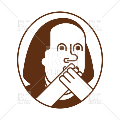 400x400 Oh My God Emotion Of Benjamin Franklin Icon Royalty Free Vector