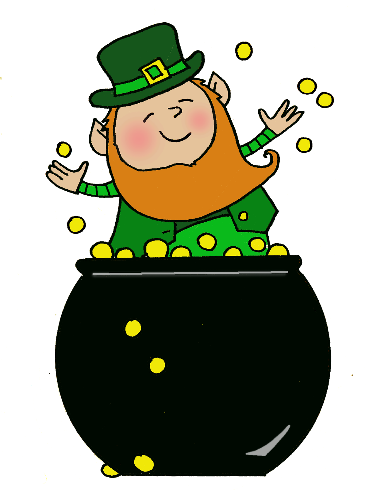 1203x1600 Delighted Leprechaun Pot Of Gold Pin By Tink Tindel On Clip Art
