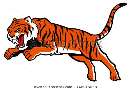 450x310 Angry Tiger Clipart