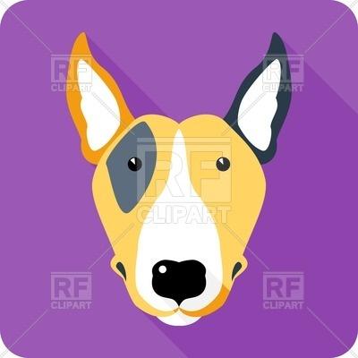 400x400 Bull Terrier Head