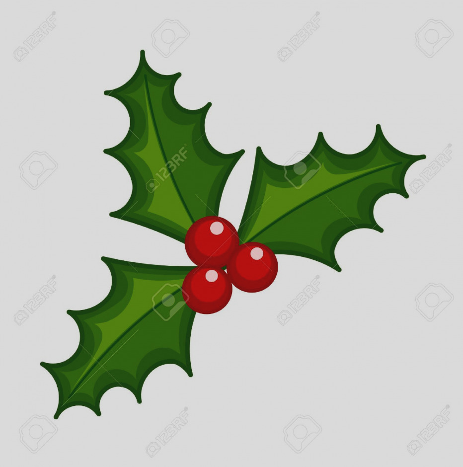 932x940 Free Christmas Clipart Holly Berries