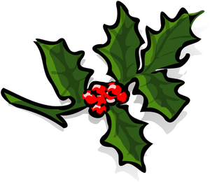 300x260 30000 Free Clipart Of Holly Leaves And Berries Public Domain Vectors