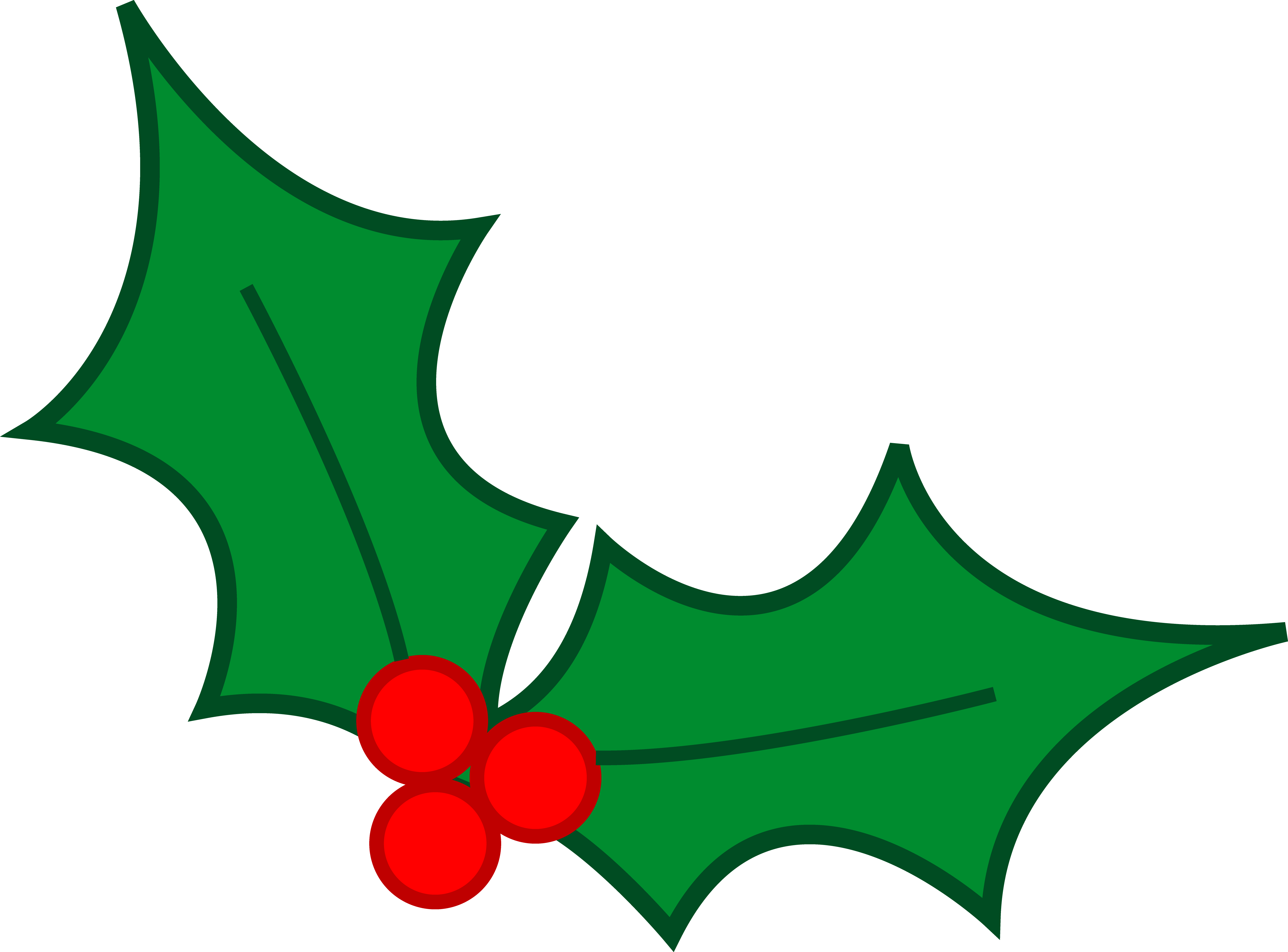 5487x4058 Green Christmas Holly Leaves