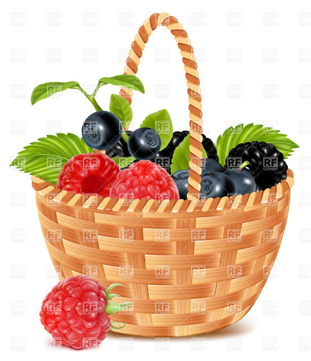 1035x1200 Basket Clipart Berry