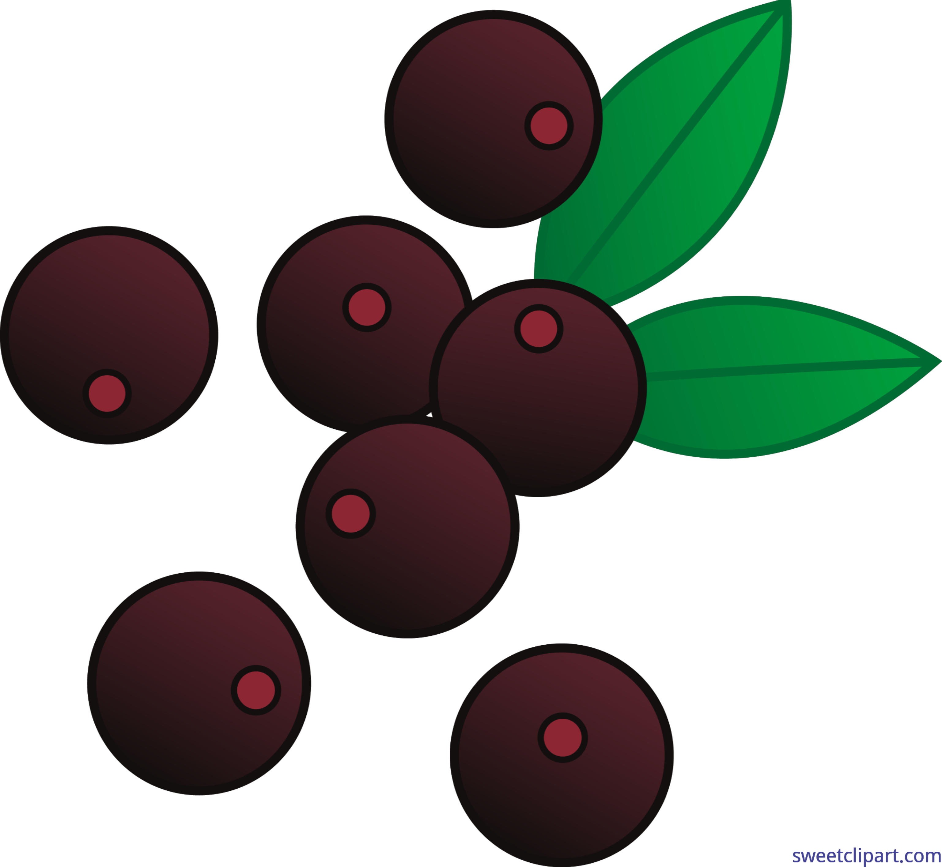 3075x2831 Berries Acai Clip Art
