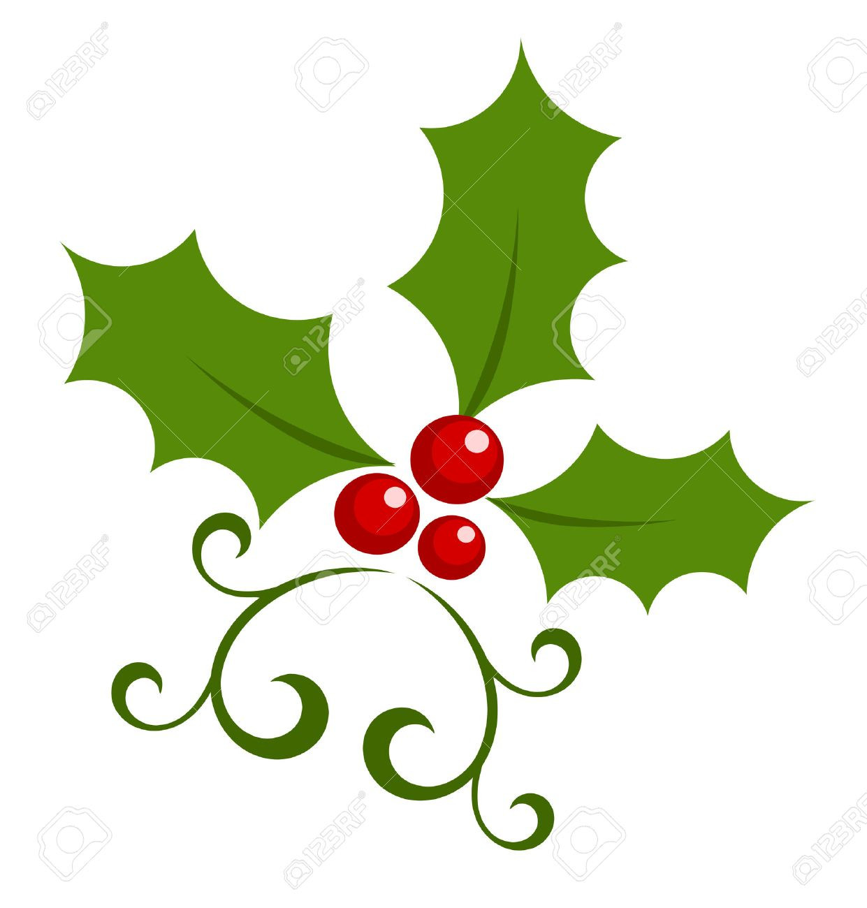 1241x1300 Clip Art Holly And Berries Olddesignshop Hollyberries1904 Unusual