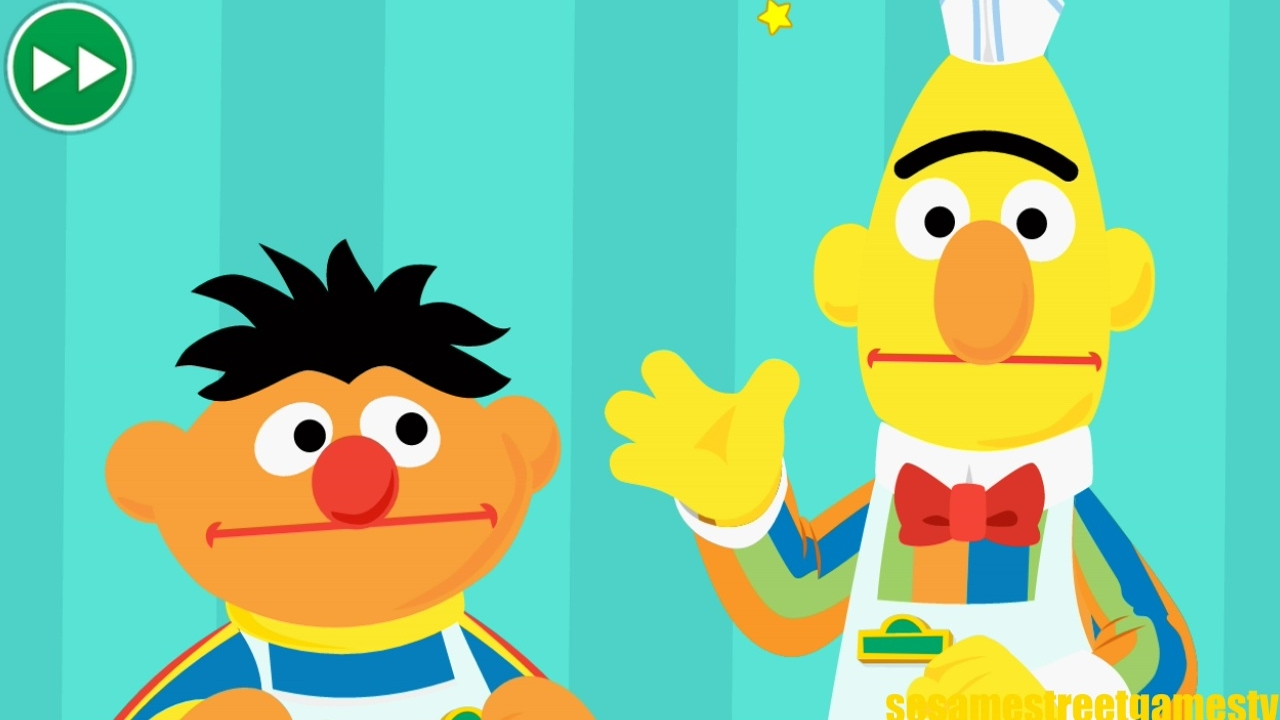 1280x720 Sesame Street Bert And Ernie Work At A Restaurant Online Game
