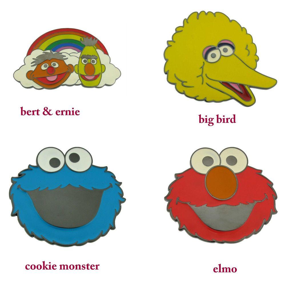 998x1000 Sesame Street Characters Belt Buckle Elmo Big Bird Cookie Monster