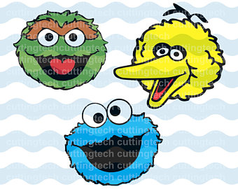 340x270 Sesame Street Characters Elmo Bert Ernie Svg Digital Download