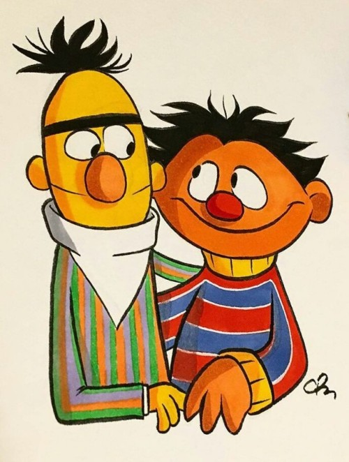 500x662 Bert And Ernie Art Tumblr