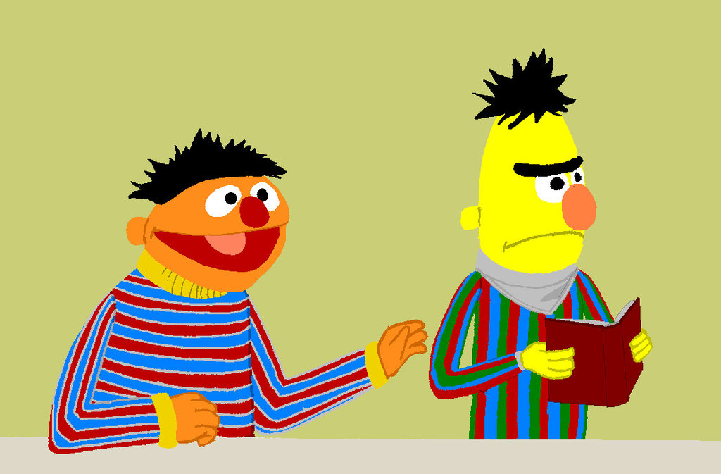 1024x673 Bert And Ernie Process 1 By Clay Film