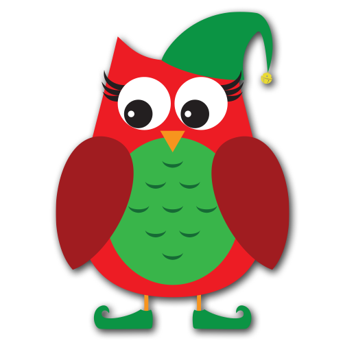 500x500 Collection Of Owl Clip Art Christmas High Quality, Free