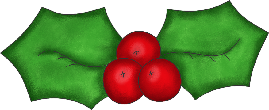 877x359 Best Christmas Holly Clip Art
