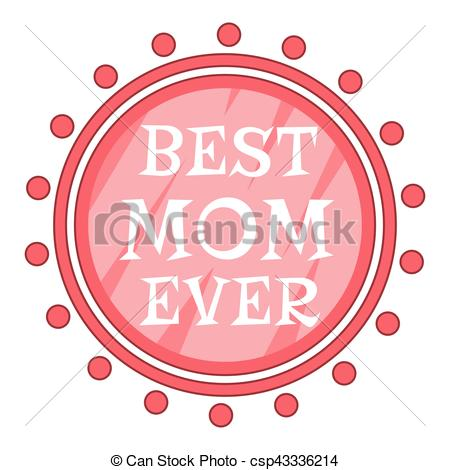 450x470 Best Mom Ever Best Mom Ever Pink Circle Icon. Best Mom Ever