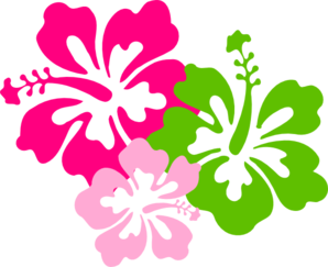 298x243 Hibiscus Pink Green Clip Art